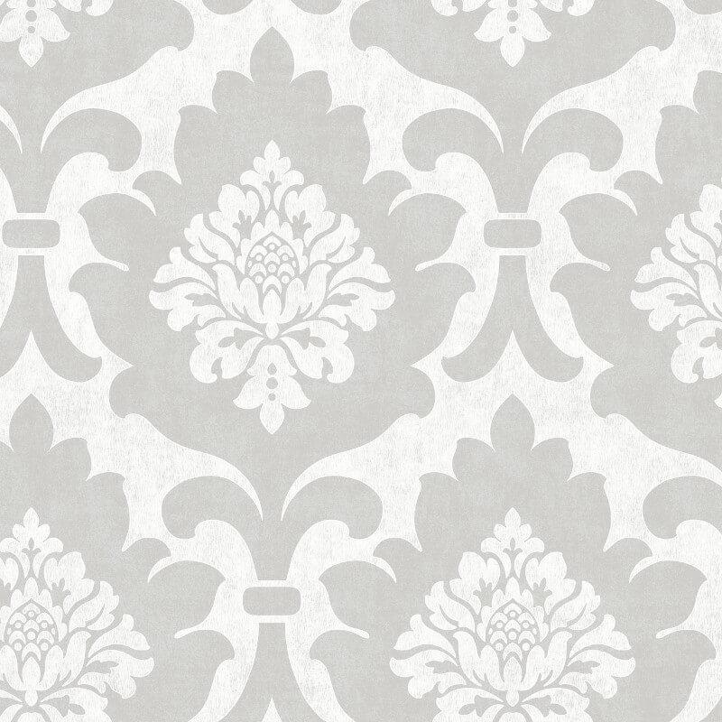 SK Filson Osbourne Damask Silver Wallpaper - DE41843