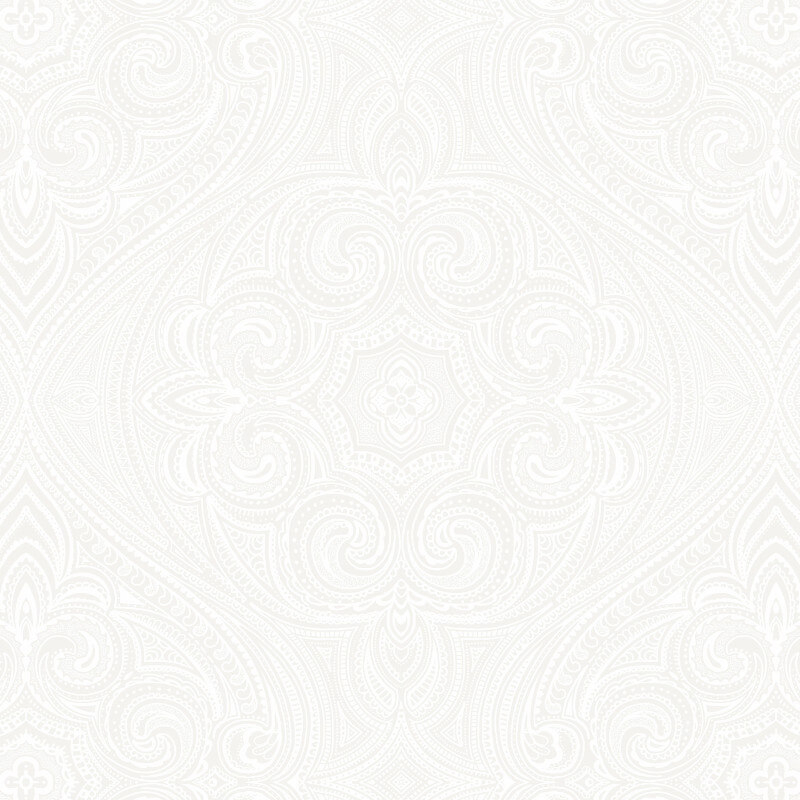 SK Filson Paisley Motif White Wallpaper - DE41852