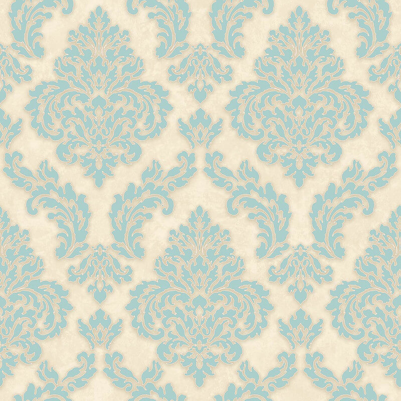 SK Filson Sahara Damask Blue Wallpaper - SK10015