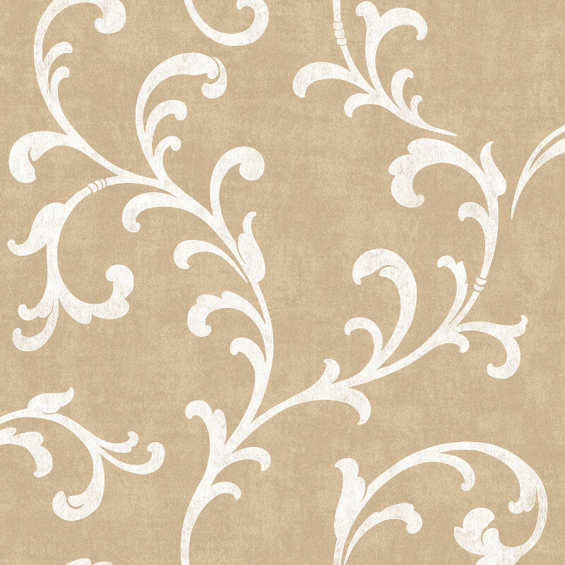 SK Filson Trellis Scroll Dark Gold Wallpaper - DE41846