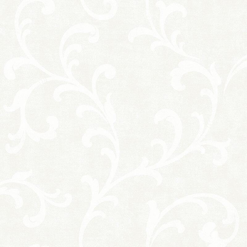 SK Filson Trellis Scroll White Wallpaper - DE41824