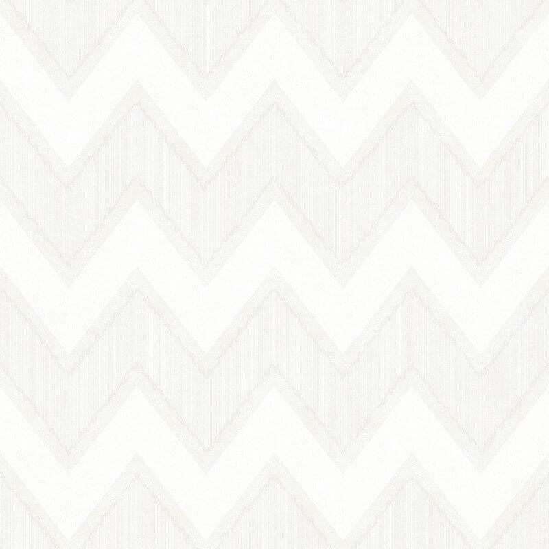 SK Filson Zig Zag Chevron White Wallpaper - DE41825