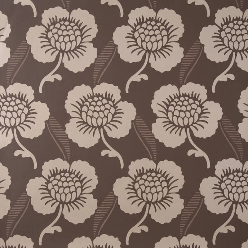 Little Greene St. James's Place Wallpaper in Chocolate