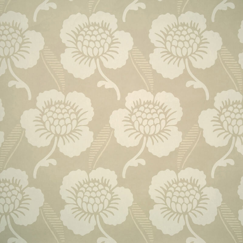 Little Greene St James's Place Wallpaper in Fawn