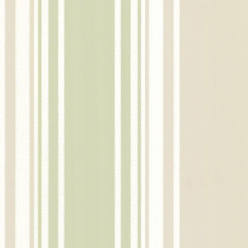 Little Greene Tented Stripe Wallpaper in Eau De Nil