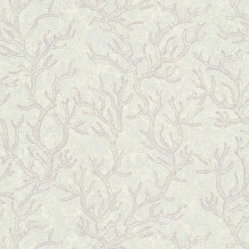 Versace Coral Lilac/White Metallic Wallpaper - 34497-4
