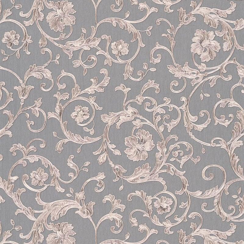 Floral glitter wallpaper