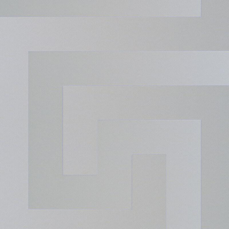 Versace Greek Key Motif Grey Metallic Wallpaper - 93523-5