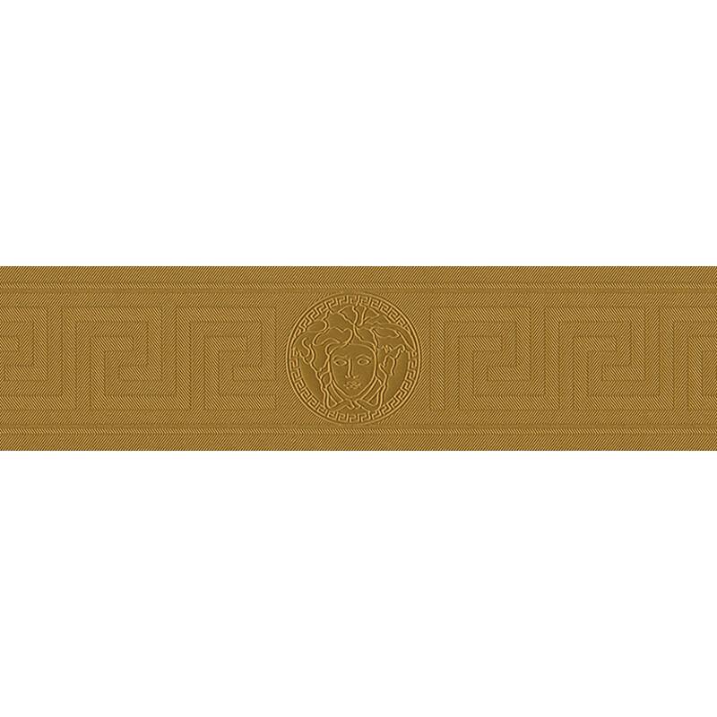 Versace Medusa Greek Key Gold Metallic Wallpaper Border - 93526-2