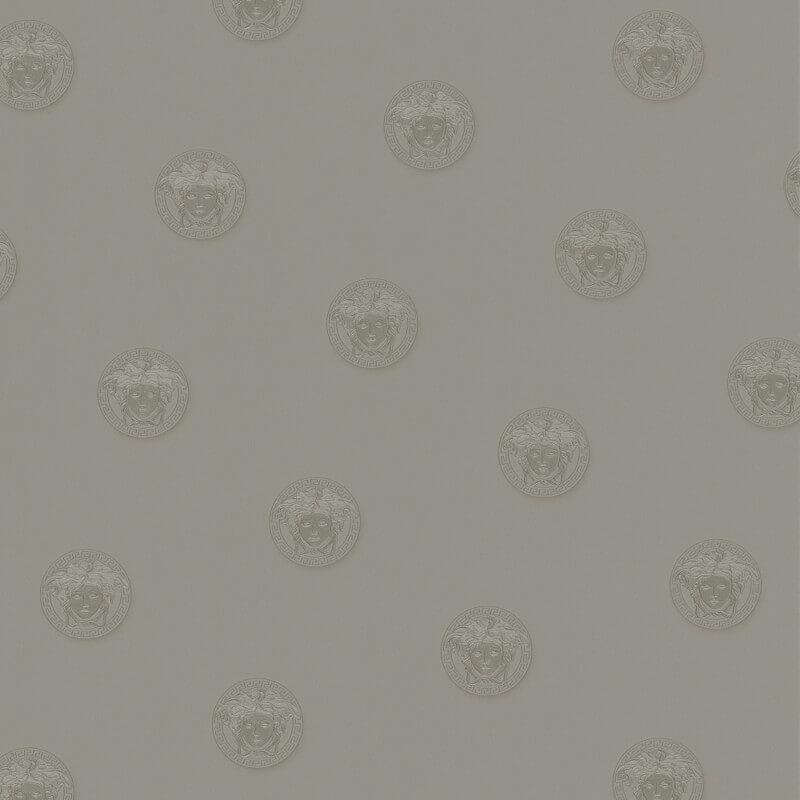 Versace Vanitas Motif Silver Metallic Wallpaper - 34862-3