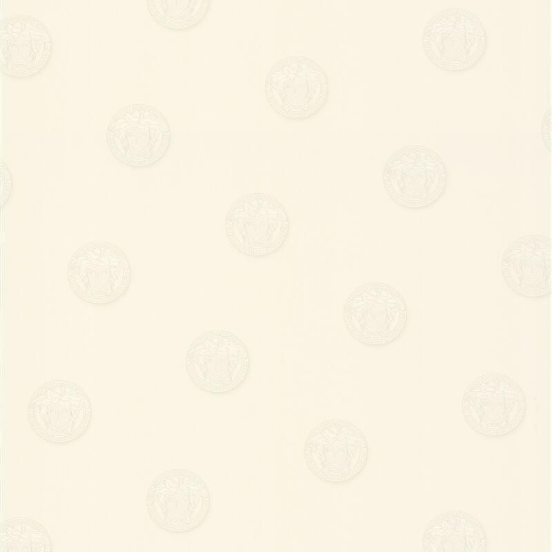 Versace Vanitas Motif White Wallpaper - 34862-1