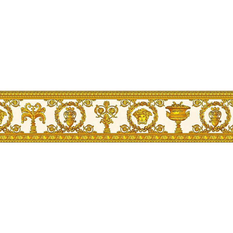 Versace Vanitas White/Gold Wallpaper Border - 34305-2