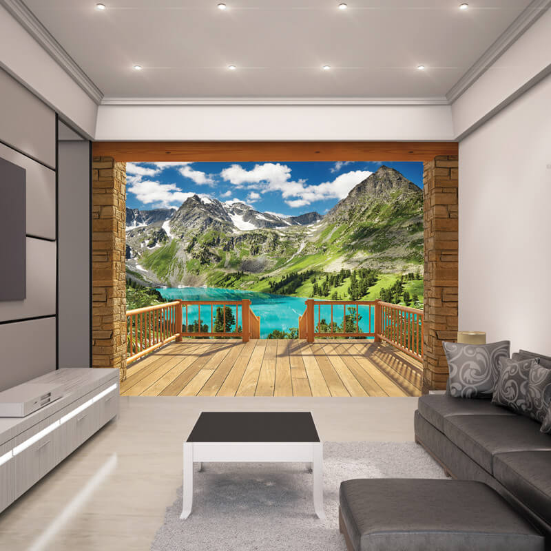 walltastic alpine mountain wallpaper mural