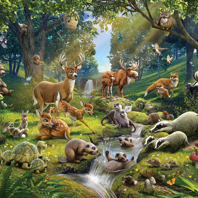 Walltastic Animals Of The Forest Mural 43060