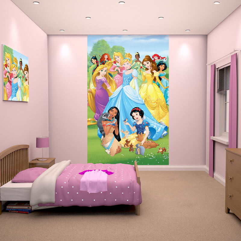 Walltastic disney princesses poster mural 43053 for Disney princess wallpaper mural uk