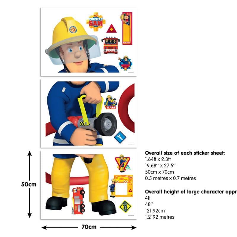 Walltastic Fireman Sam Large Character Sticker - 44333