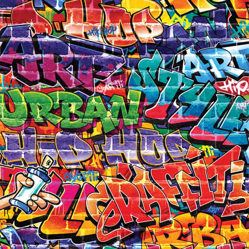 Walltastic Graffiti Wallpaper Mural - 43855