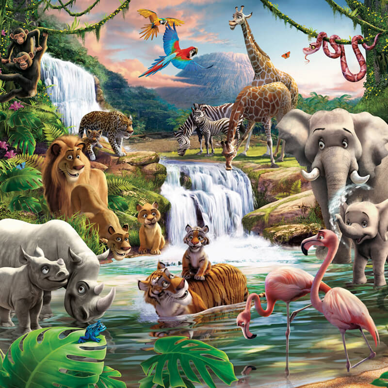 Walltastic Jungle Adventure Wallpaper Mural - 41776
