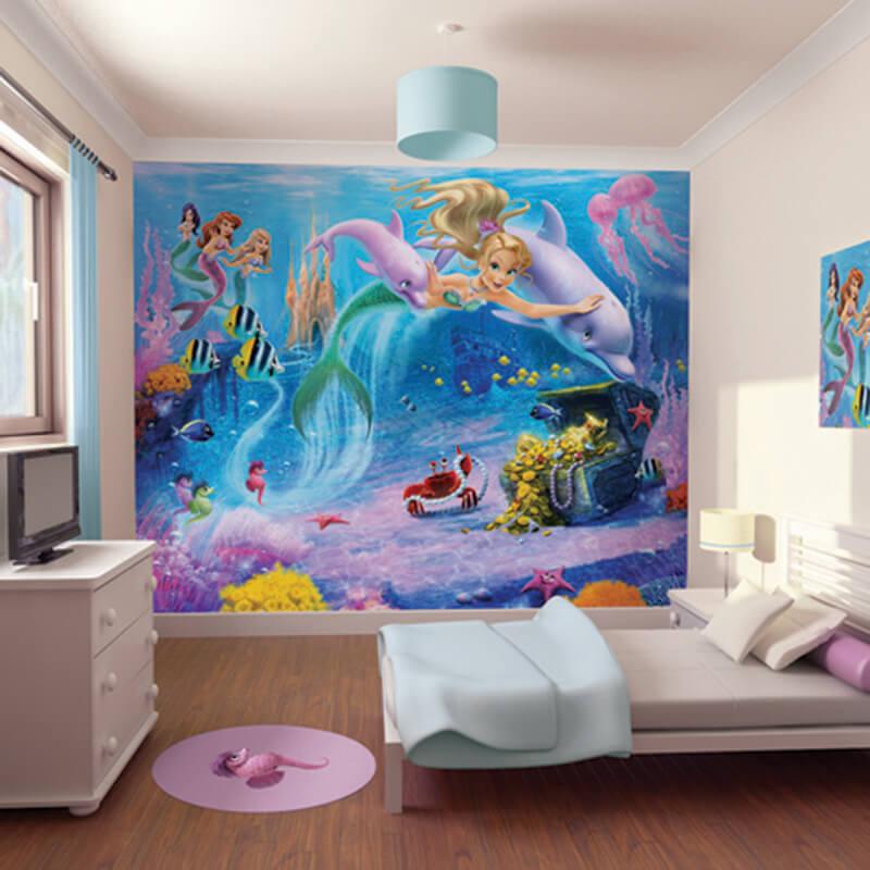 mermaids wallpaper mural 41813 children 39 s wall murals. Black Bedroom Furniture Sets. Home Design Ideas