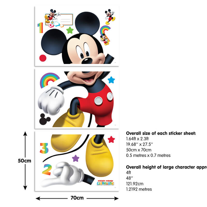 Walltastic Mickey Mouse Large Character Sticker - 44326