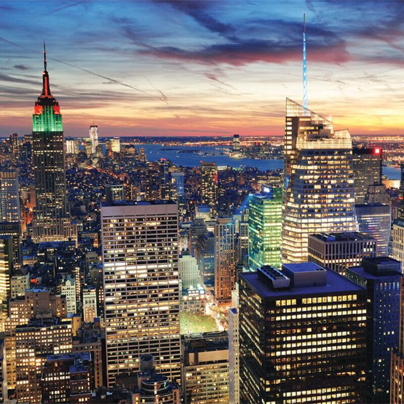 New york skyline wall mural for City skyline wall mural