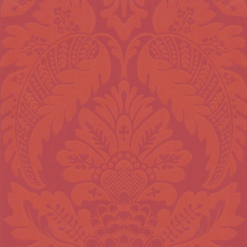 Little Greene Wilton Wallpaper in Library Red
