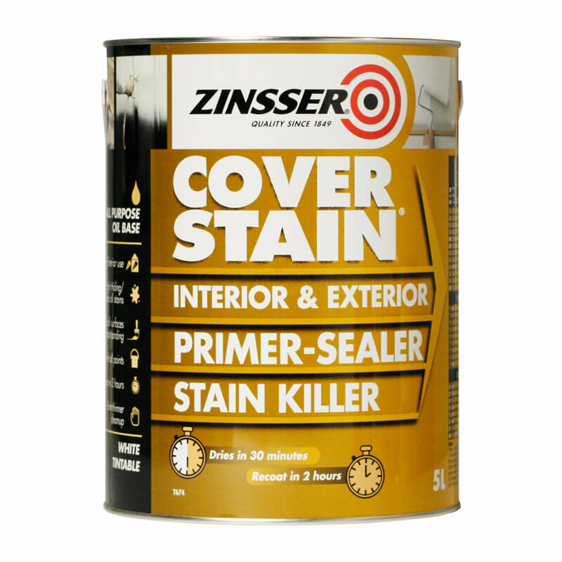 Calculating Paint Coverage Interior: Zinsser Cover Stain Primer
